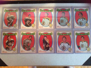 10 1970/71 hockey cards