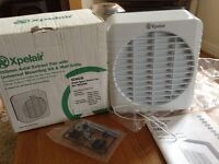 New Xpelair GX6 extract fan with mounting kit and wall grill
