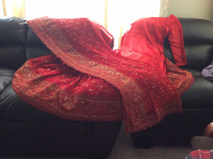 wedding/bridal dress[indian \pakistani lahanga/sharara]