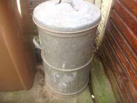 Galvernised dustbin