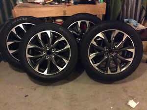 Buy the Rims and get the tires for free!  Almost new!