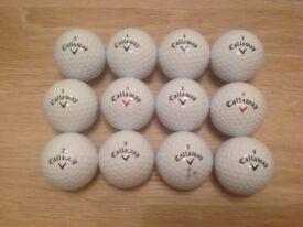 12 CALLAWAY CXR GOLF BALLS