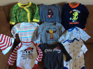 3-6 month long sleeved diaper shirts