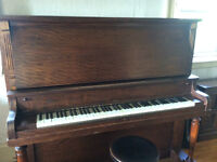 Upright Grand Piano - quality instrument for students (ivory)
