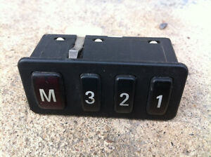 BMW E38 E39 Power Seat Memory Switch Buttons