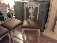 Dining chairs lovely ornate shabby chic