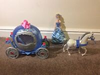Disney Cinderella coach with Lights & sounds doll