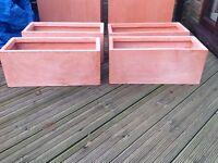 Set of four terracotta fibrecotta troughs NEW RRP £24.99 each