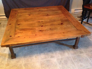 Coffee Table with iron base