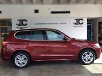 2011 BMW X3 2.0 20d M Sport xDrive 5dr Diesel red Automatic