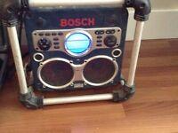 Big Powerful bosch job site stereo