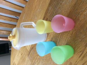 Kids Mini Tupperware pitcher and tumblers