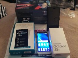 Galaxy j3 16 sim free 12 month warranty