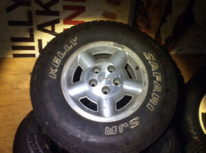 235/75/15 M/S Tires on GM Blazer rims will fit S 10 /others $400
