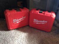 Milwaukee selfeed bit set and big hawg 7 piece hole cutter kit