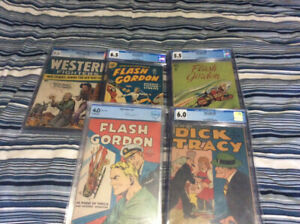 Selling Off 5 CGC Graded Golden Age Comic Books NICE BOOKS!!