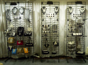 Trade show metal grid and all fixtures
