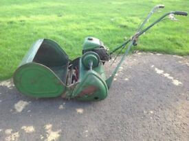 Ransomes Petrol cylinder lawnmower 19 inch cut full working order
