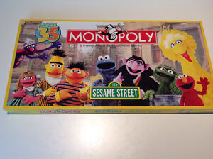 Sesame Street 35th anniversary edition monopoly