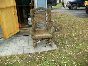 Old Wicker Rocking Chair