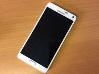 Samsung note 4 in white unlocked all networks
