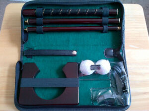 Office/home/hotel golf putter set in great zipper carrying case. Windsor Region Ontario image 1