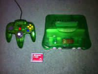 Jungle Green Nintendo 64 with Expansion Pak, Matching Controller