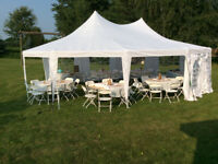 Outdoor Tent Rental - chairs, tables, dance floor, bar