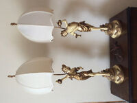 Pair of L&F Moreau lamps