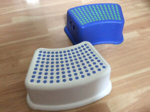 Two Ikea stepping stools