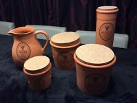 Brand New Terracotta Storage Cannisters