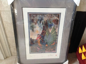 Rolling Stones Framed Tour Numbered Lithograph Poster