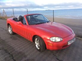 Mazda MX5 1.6i Asolo, 2001, convertible, FSH, 74000 miles, 13 months MOT, £1,200