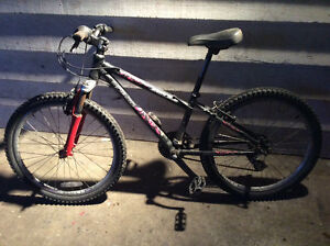 Child's mountain bike for ages ten to thirteen