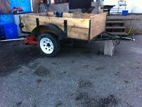 Utility trailer 4x8 new wood floor & sides $575
