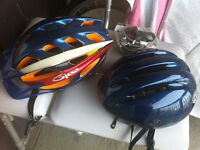 Helmet and Manual pump for bicycle for sale