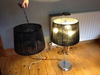 Contemporary Lamp and ceiling lamp set