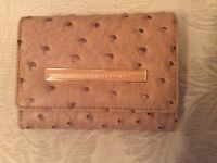 MODA ostrich leather, brand new purse. Mail order + PayPal available