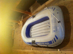 2  MAN RUBBER BOAT WITH  2 PADDLES
