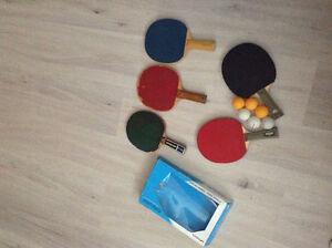 raquettes de ping pong  butterfly avec balles a vendre