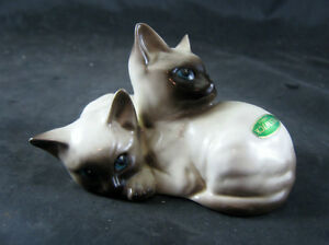 BESWICK MODEL 1296 SIAMESE KITTENS Curled Together  EARLY MARK