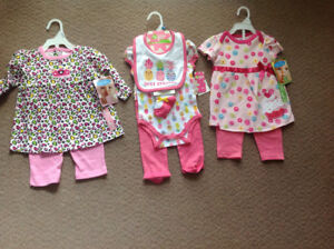 Three Brand New Baby Girl Outfits Sz.6-9 Mos.$20.00