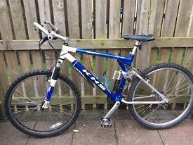 KHS FXT XC, full suspension mountain bike.