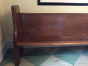 Solid Oak Pew For Sale