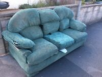 Free 3 seater sofa collection only.