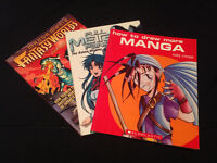 THREE manga drawing/creation books for one price!