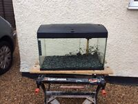 Complete tropical aquarium fish tank set up
