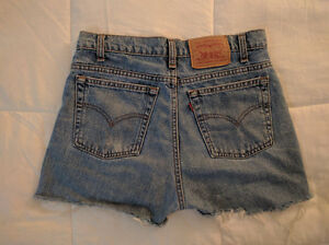 Levis denim cutoff shorts