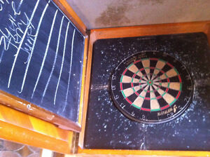 Custom make dart board & case