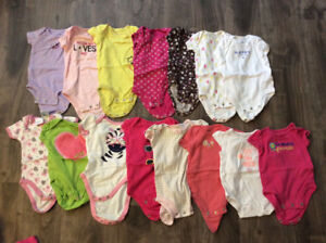 HUGE! Lot of 0-3 month Baby Girl Clothing